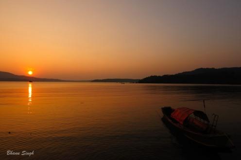 Sun set at Chidiyatapu, Andaman Islands