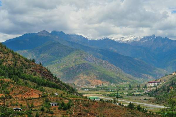 Arial view of Paro Valley