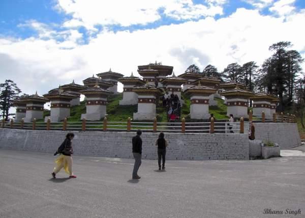 108 chortens (stupas) at Dochula